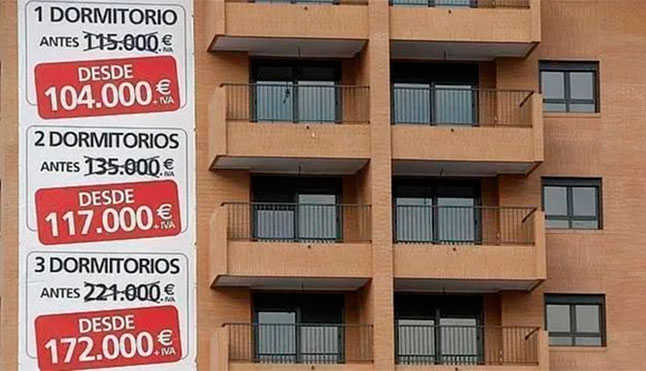 The COVID-19 epidemic causes house prices in Spain to plummet