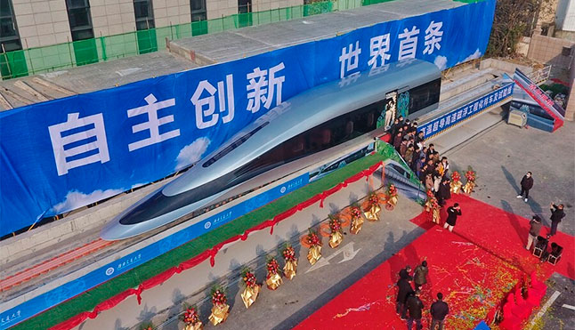 EurochinaBridge China shows the world its new prototype maglev train