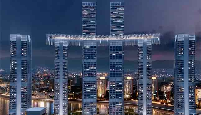 China inaugurates the first horizontal skyscraperl