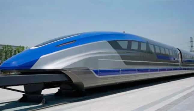 The train capable of reaching 600km/h