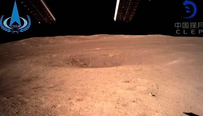 China moon landing on the hidden side of the Moon