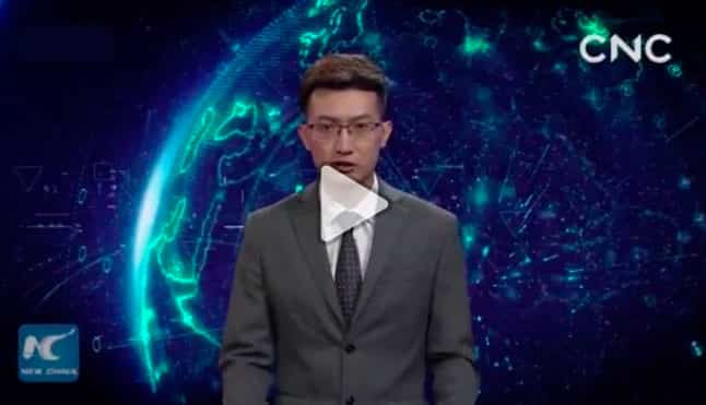 China releases the presenter of the future